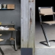 Chaise de Bureau HOBART - Mobilier meuble industriel chataignier acier