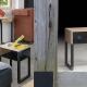 Table de Chevet MILDURA - Mobilier meuble bois métal