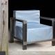 Fauteuil ALICE - Chaise néo vintage métal