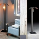 Mobilier / meuble : lampadaire métal